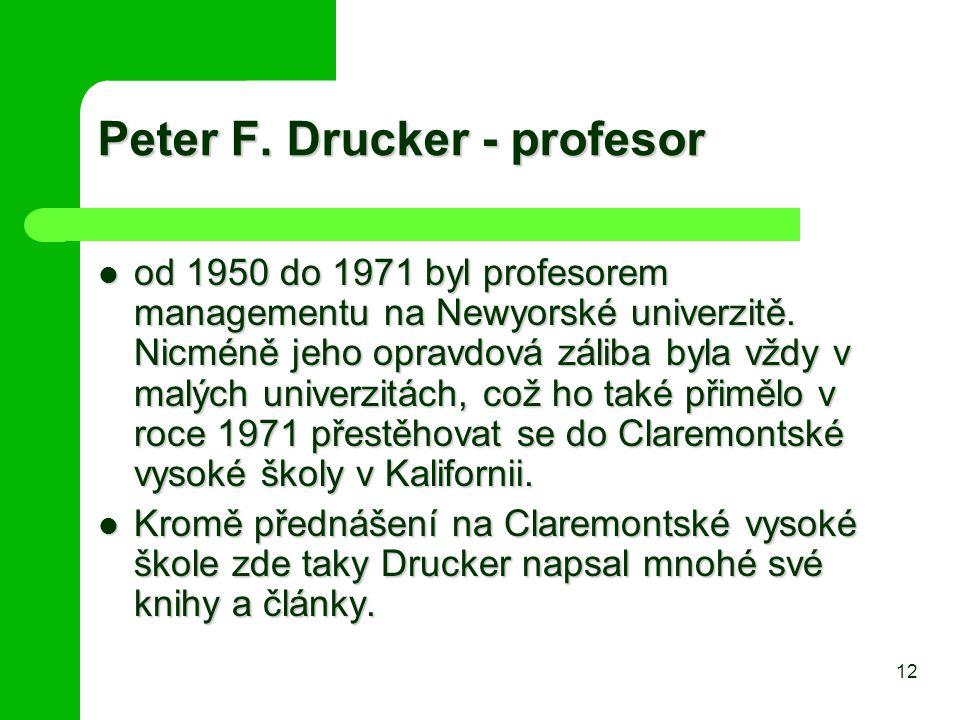 Peter F. Drucker - profesor