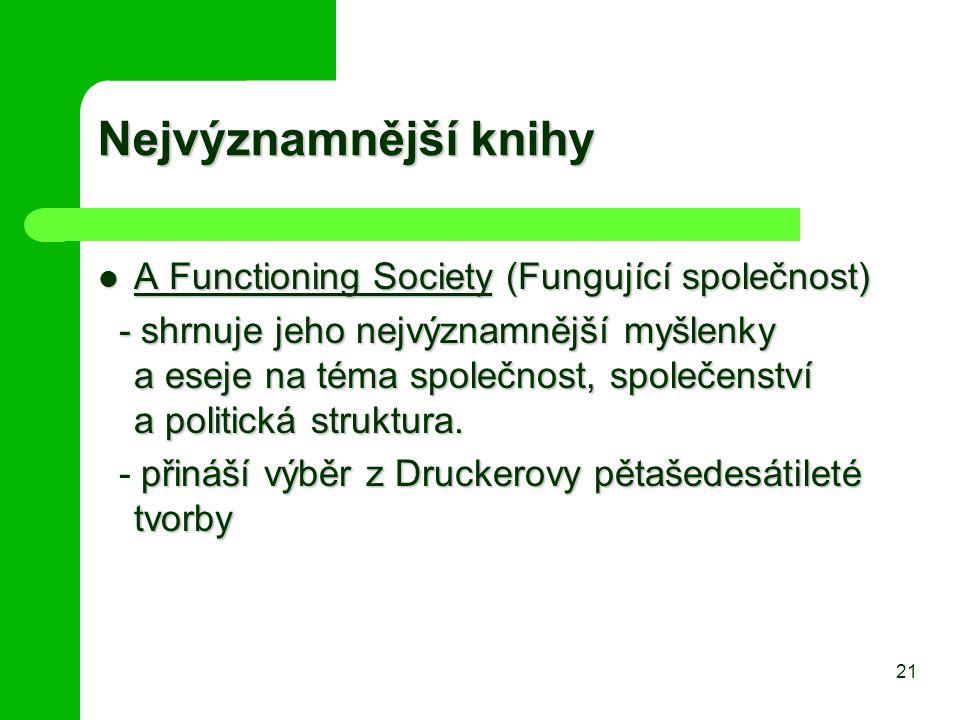 Nejvýznamnější knihy A Functioning Society (Fungující společnost)