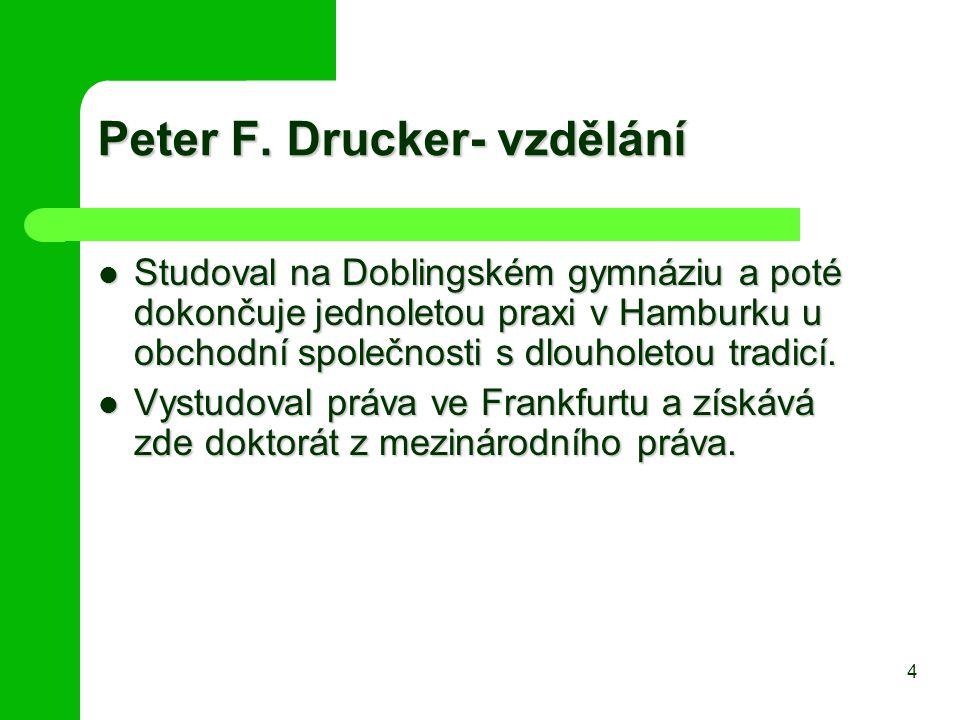 Peter F. Drucker- vzdělání