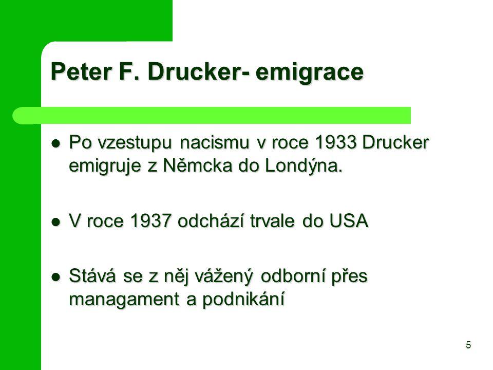 Peter F. Drucker- emigrace