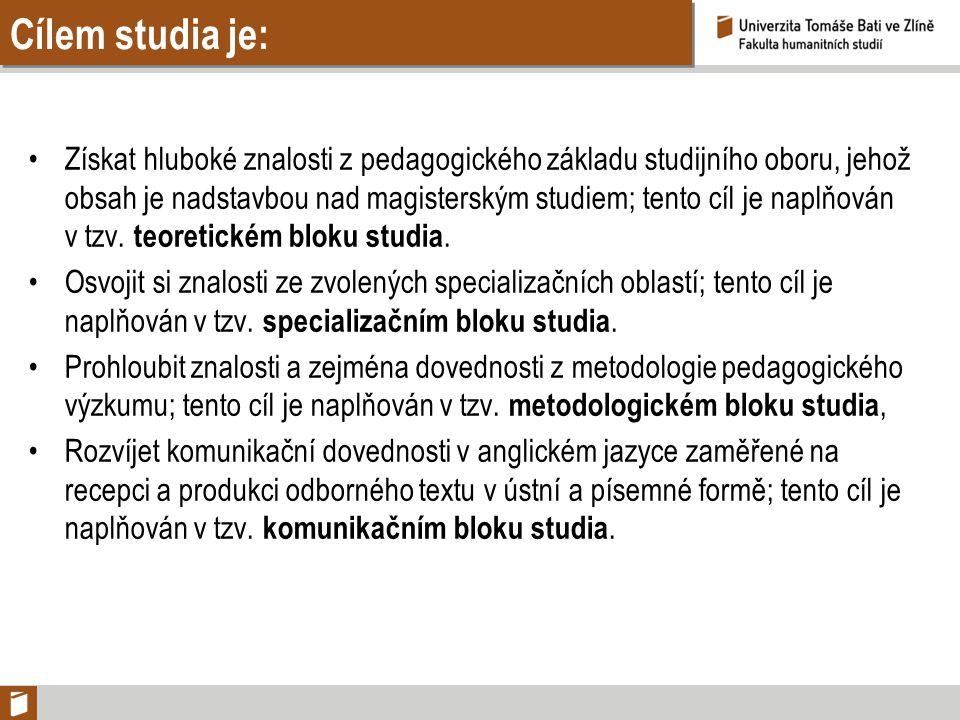 Cílem studia je: