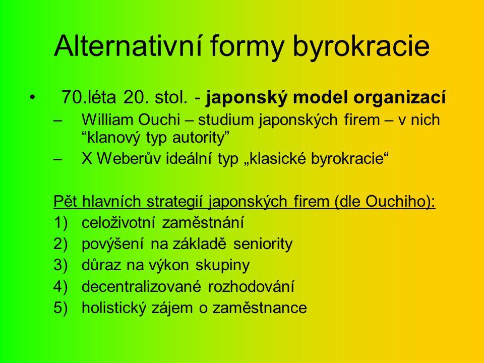 Alternativní formy byrokracie