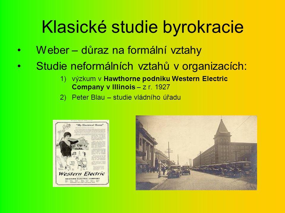 Klasické studie byrokracie