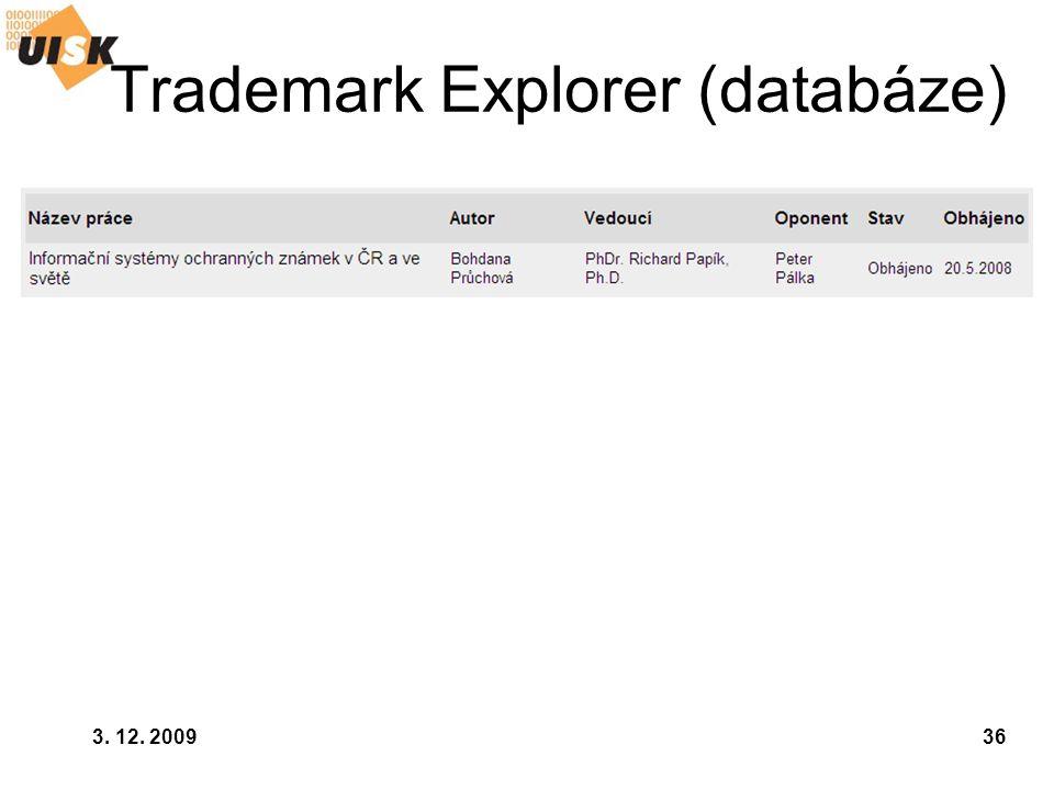 Trademark Explorer (databáze)