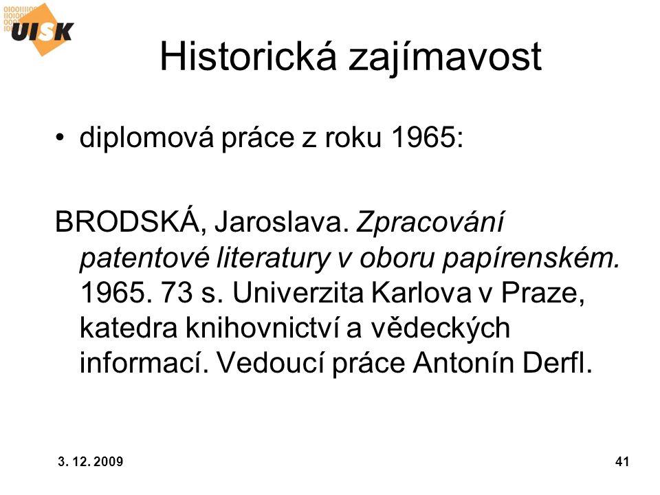 Historická zajímavost