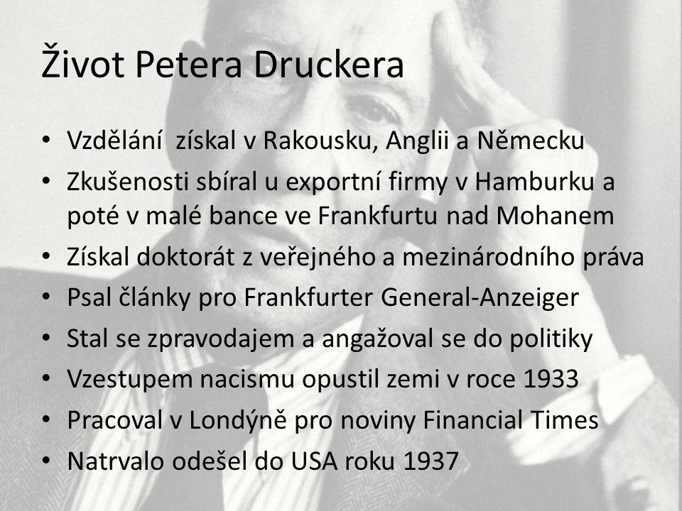 Život Petera Druckera Vzdělání získal v Rakousku, Anglii a Německu