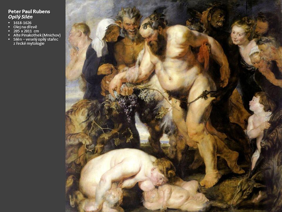 Peter Paul Rubens Opilý Silén 1618-1626 Olej na dřevě 205 x 2011 cm