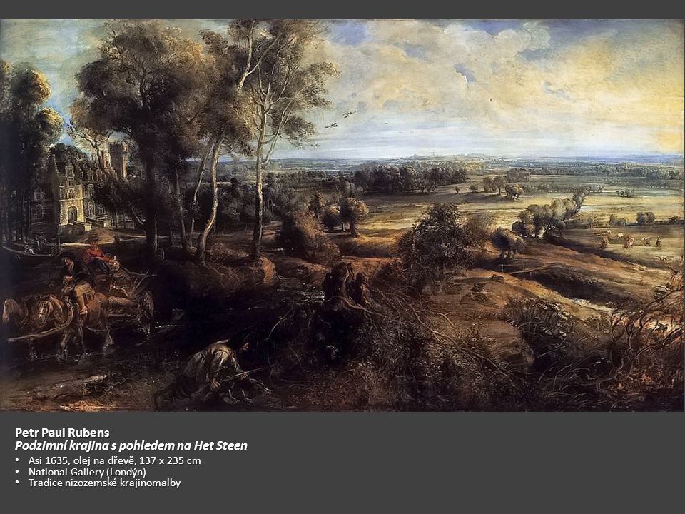 Podzimní krajina s pohledem na Het Steen