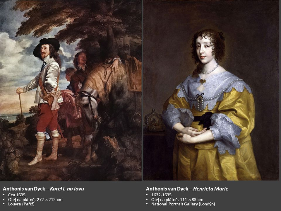 Anthonis van Dyck – Karel I. na lovu