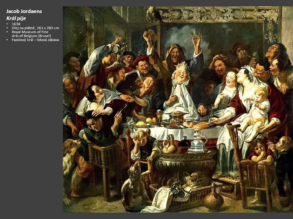 Jacob Jordaens Král pije 1638 Olej na plátně, 261 x 283 cm