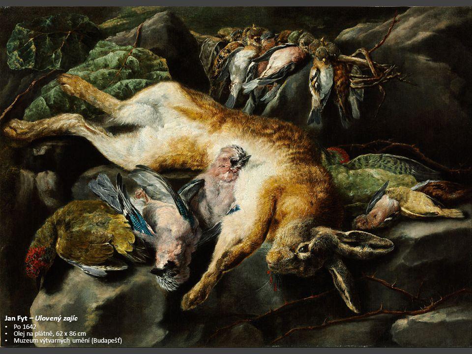 Jan Fyt – Ulovený zajíc Po 1642 Olej na plátně, 62 x 86 cm