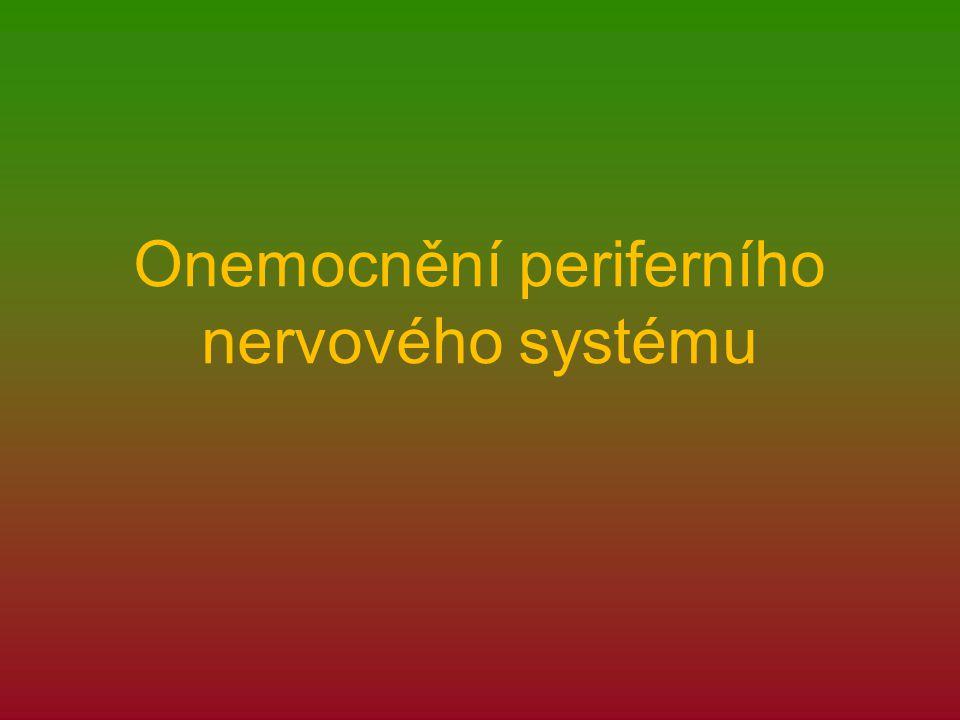 Onemocnění periferního nervového systému