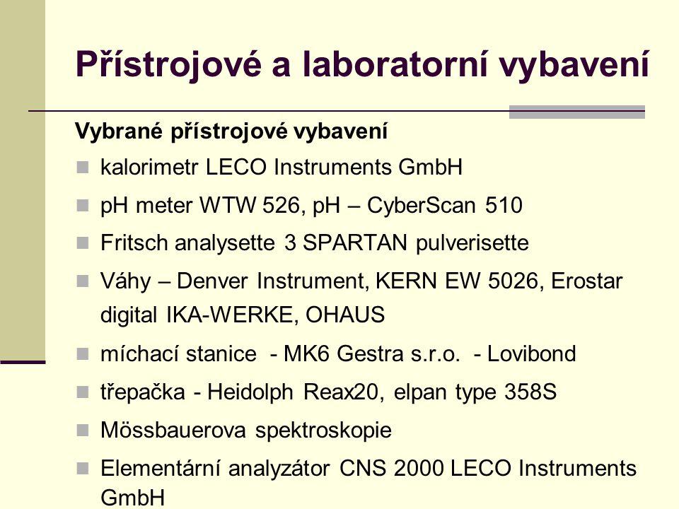Přístrojové a laboratorní vybavení