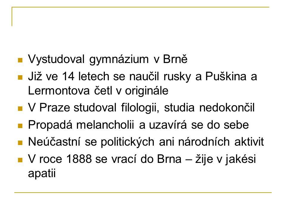 Vystudoval gymnázium v Brně