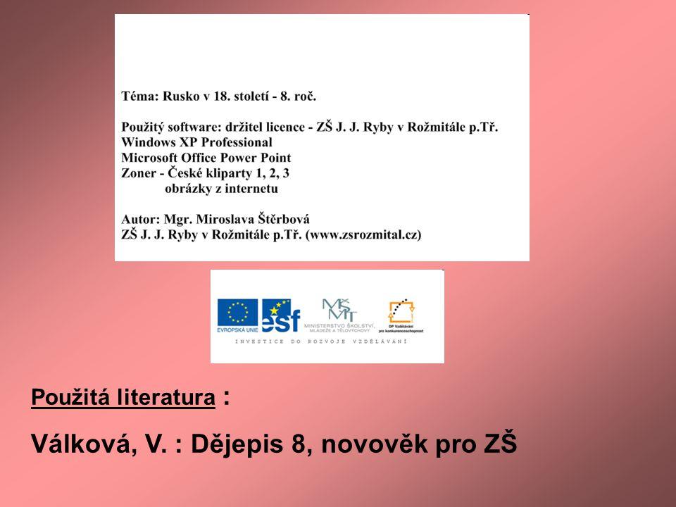 Válková, V. : Dějepis 8, novověk pro ZŠ