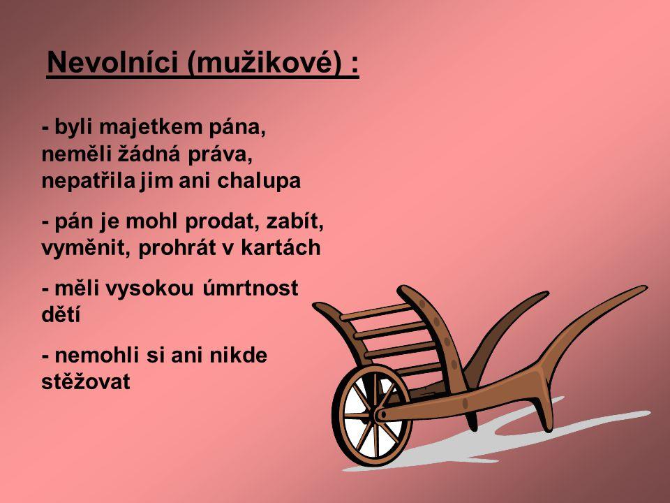 Nevolníci (mužikové) :
