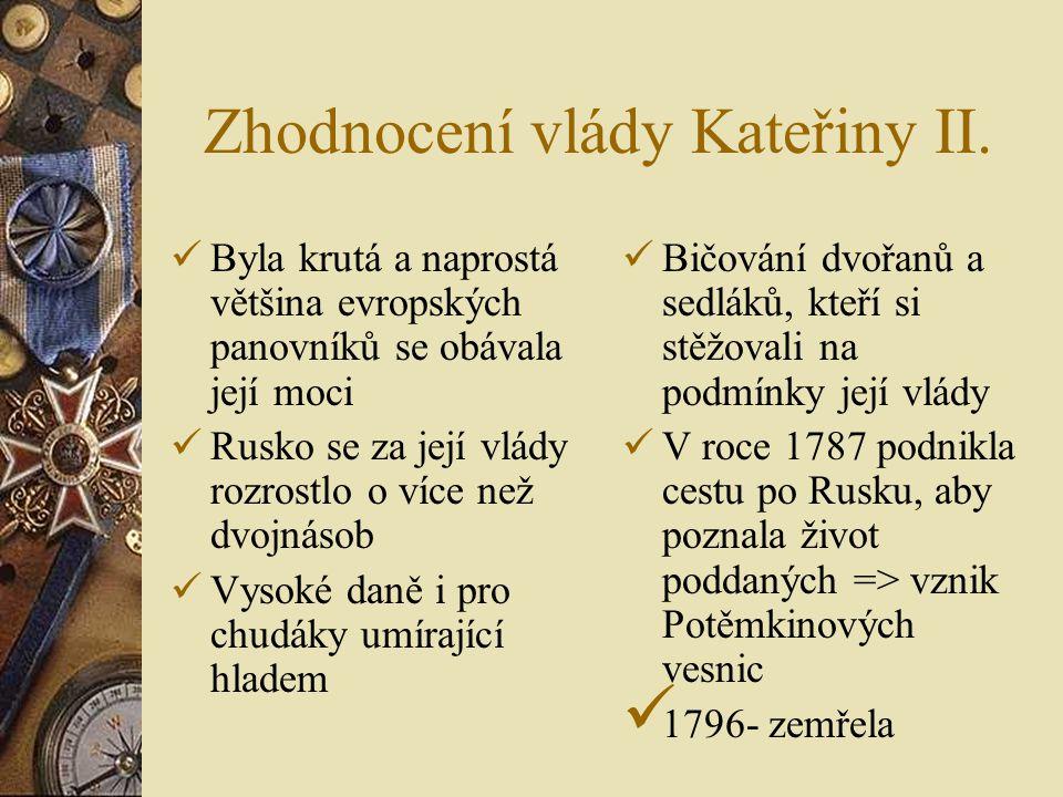 Zhodnocení vlády Kateřiny II.