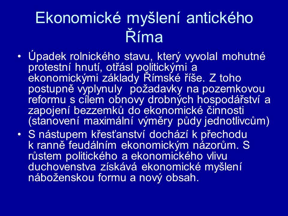 Ekonomické myšlení antického Říma