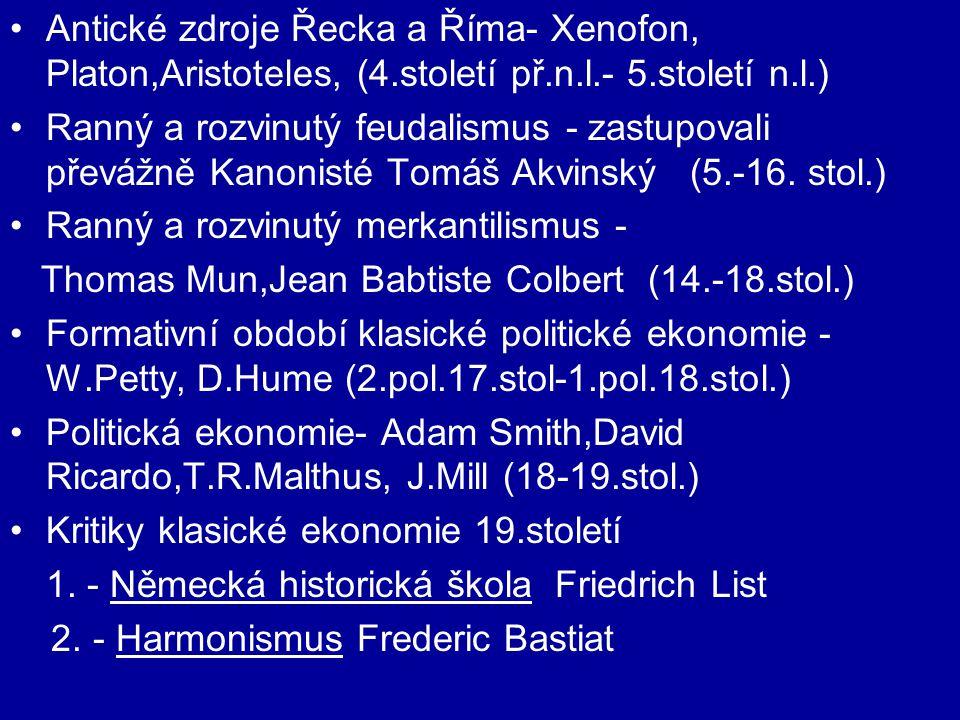 Antické zdroje Řecka a Říma- Xenofon, Platon,Aristoteles, (4