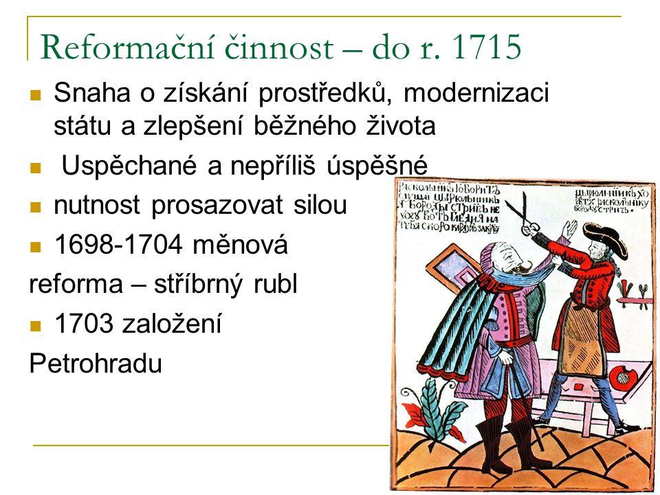 Reformační činnost – do r. 1715