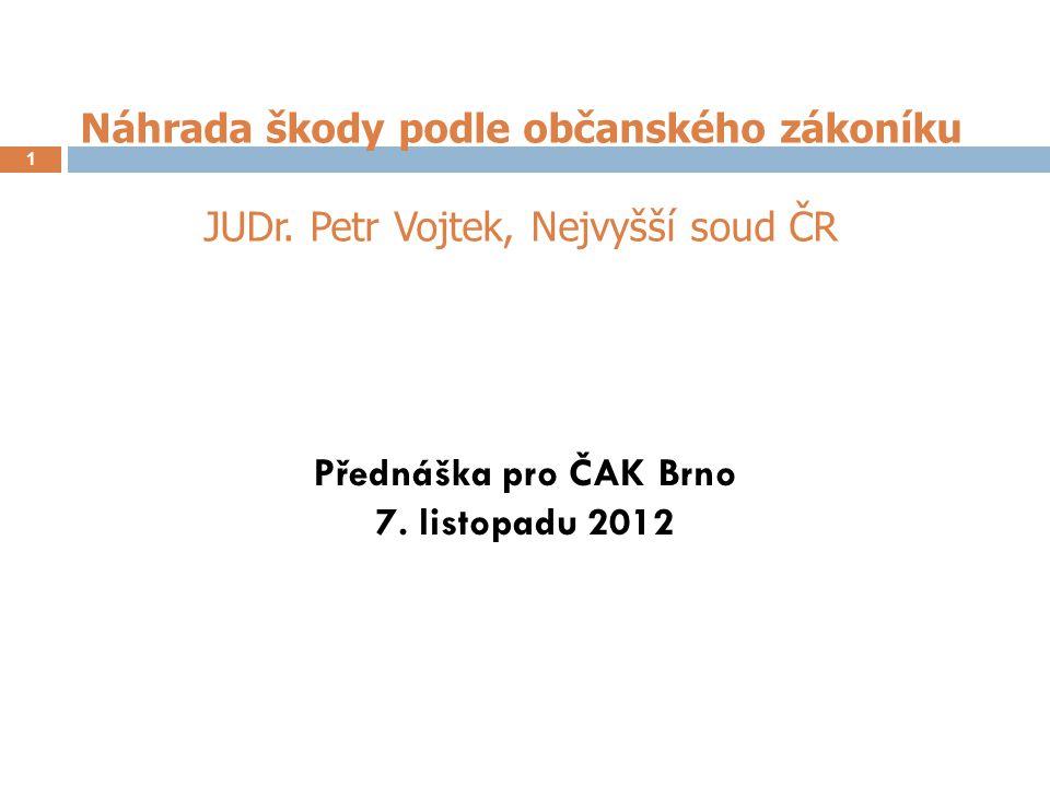 Přednáška pro ČAK Brno 7. listopadu 2012