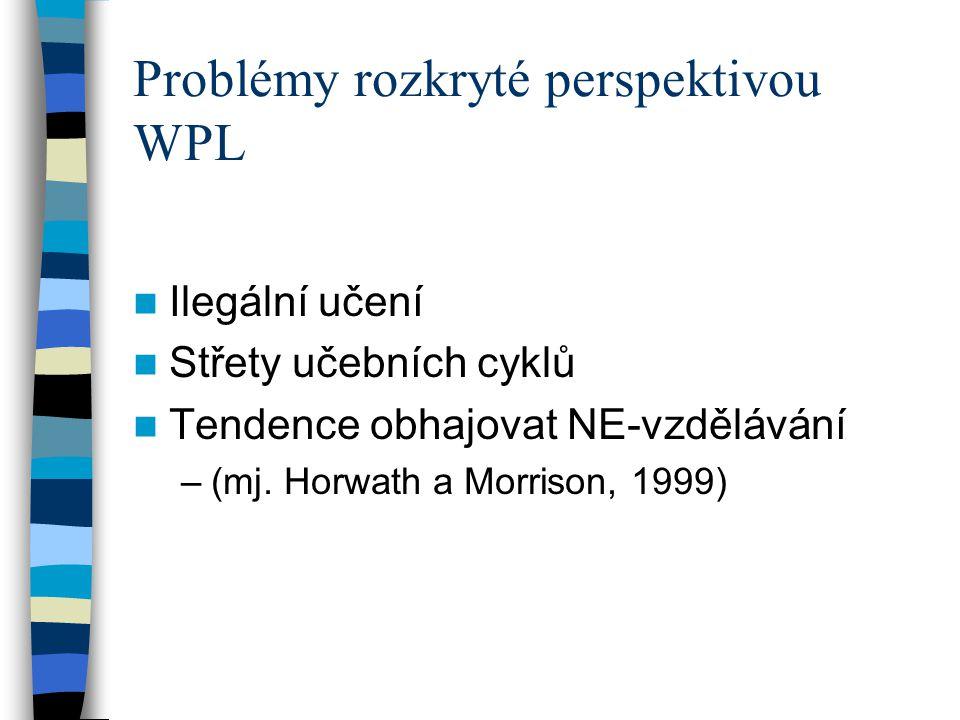 Problémy rozkryté perspektivou WPL