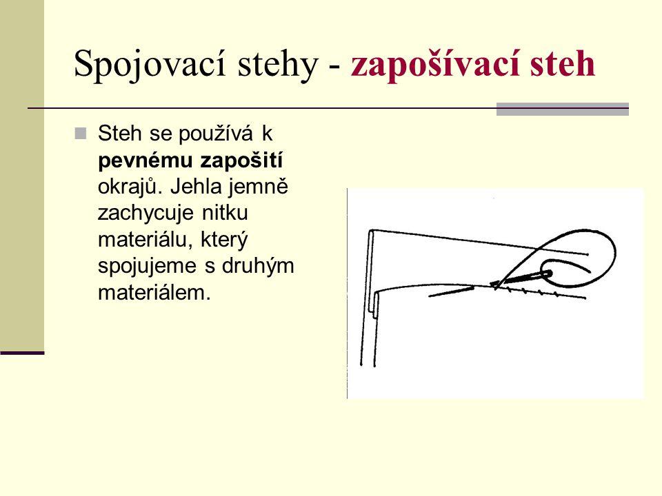 Spojovací stehy - zapošívací steh