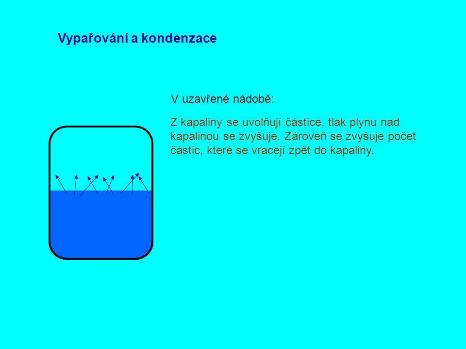 Vypařování a kondenzace