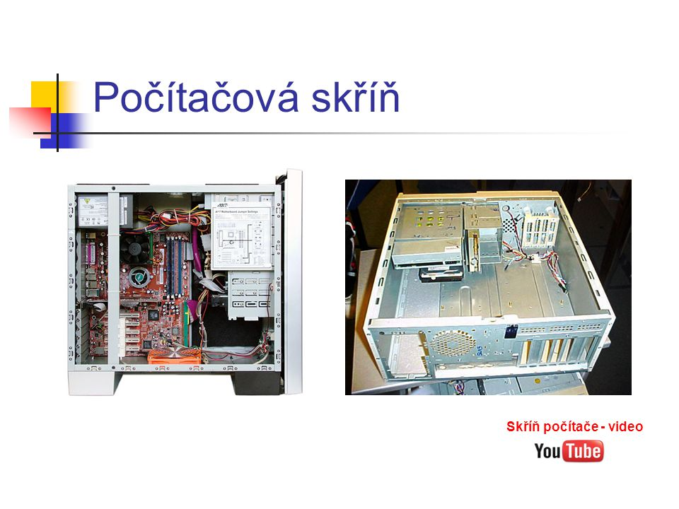 Počítačová skříň Skříň počítače - video