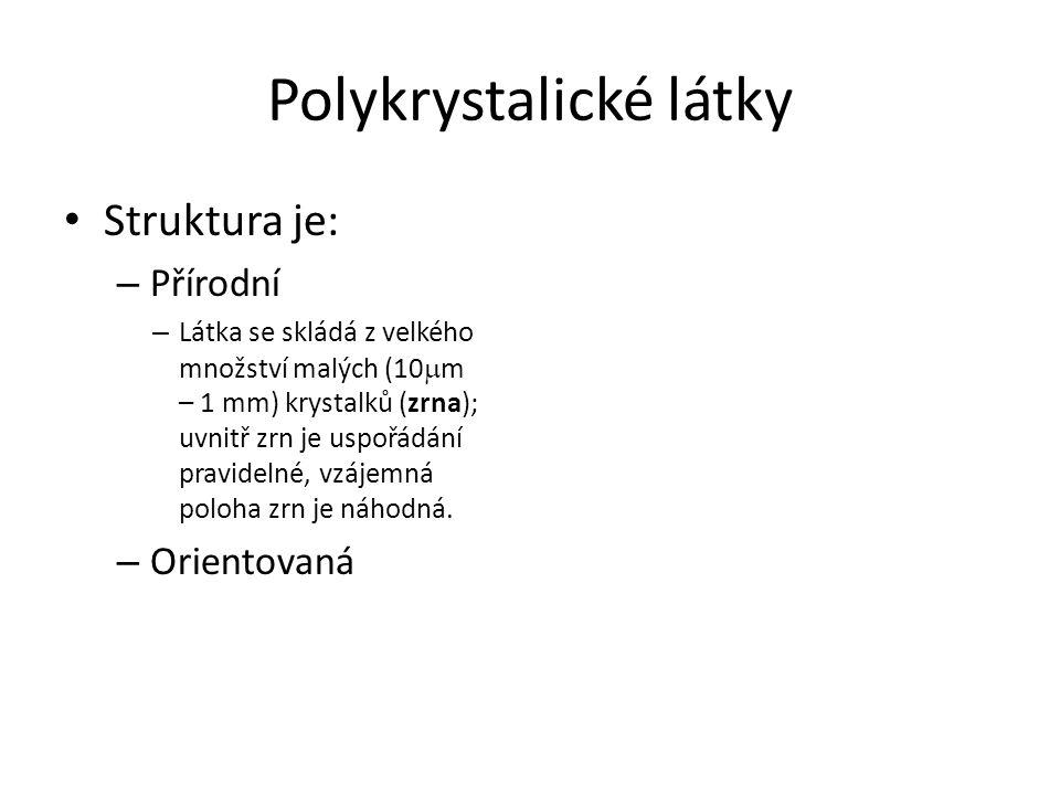 Polykrystalické látky