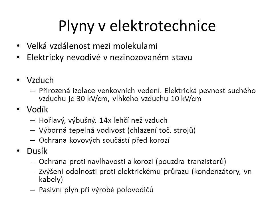 Plyny v elektrotechnice