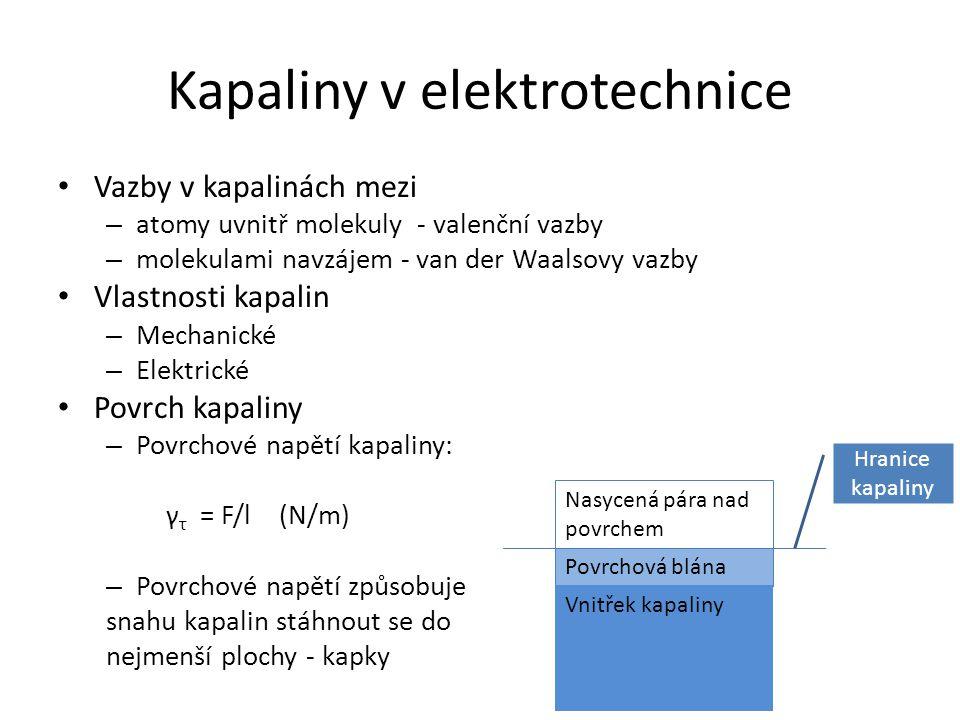 Kapaliny v elektrotechnice