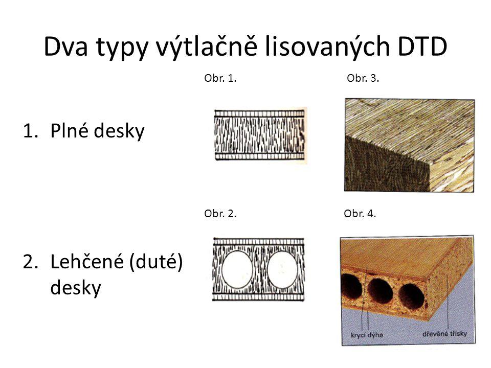 Dva typy výtlačně lisovaných DTD
