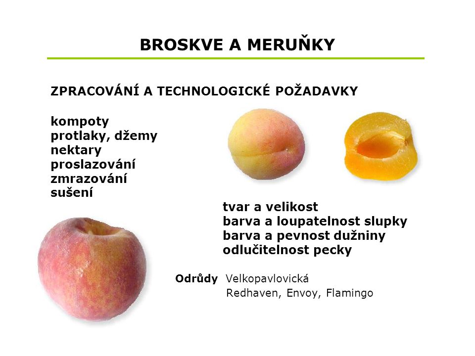 BROSKVE A MERUŇKY kompoty protlaky, džemy nektary proslazování