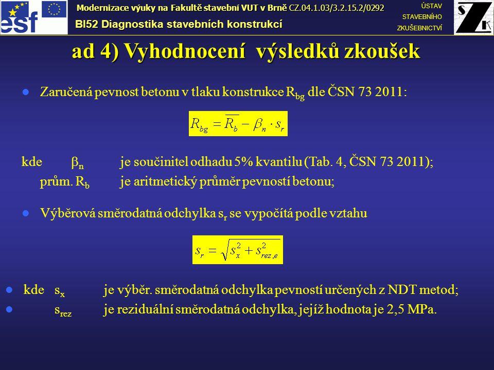 ad 4) Vyhodnocení výsledků zkoušek