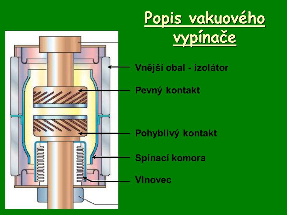 Popis vakuového vypínače