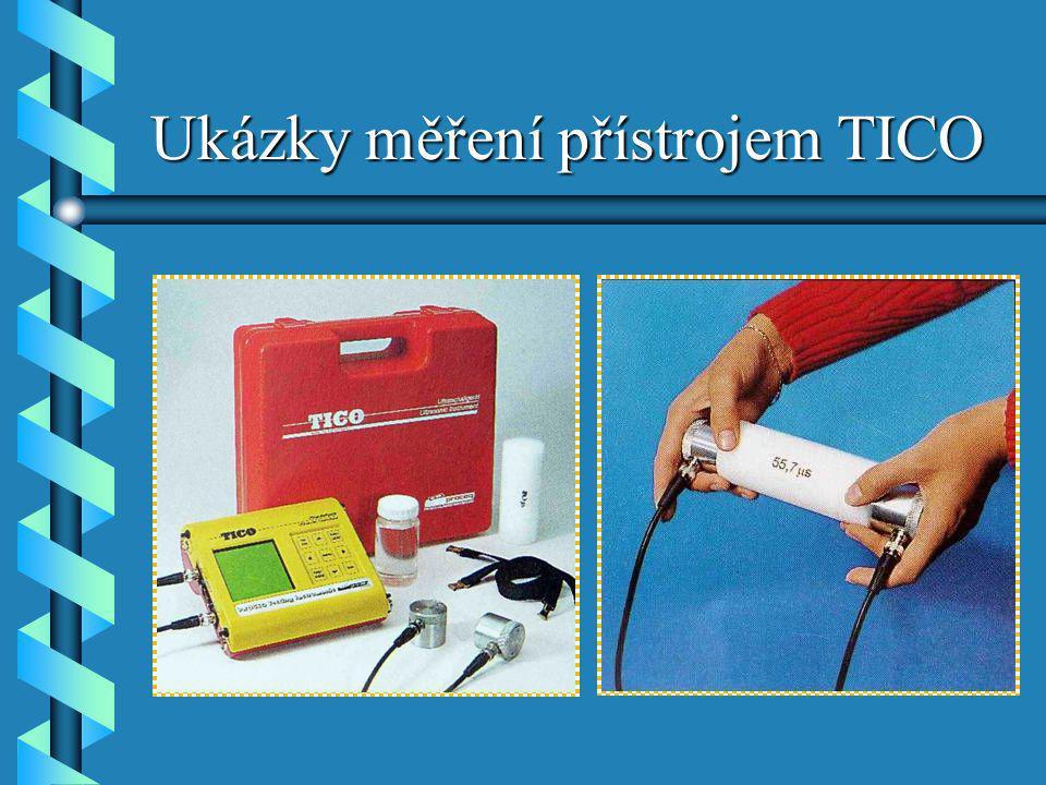 Ukázky měření přístrojem TICO