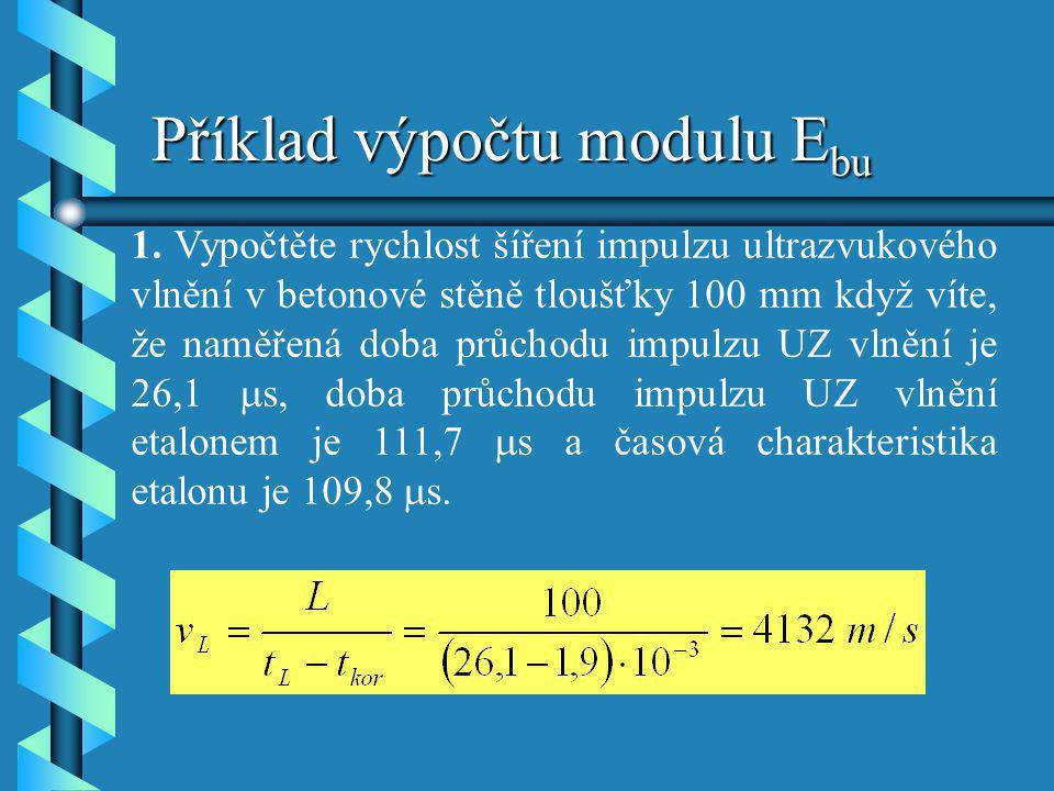 Příklad výpočtu modulu Ebu