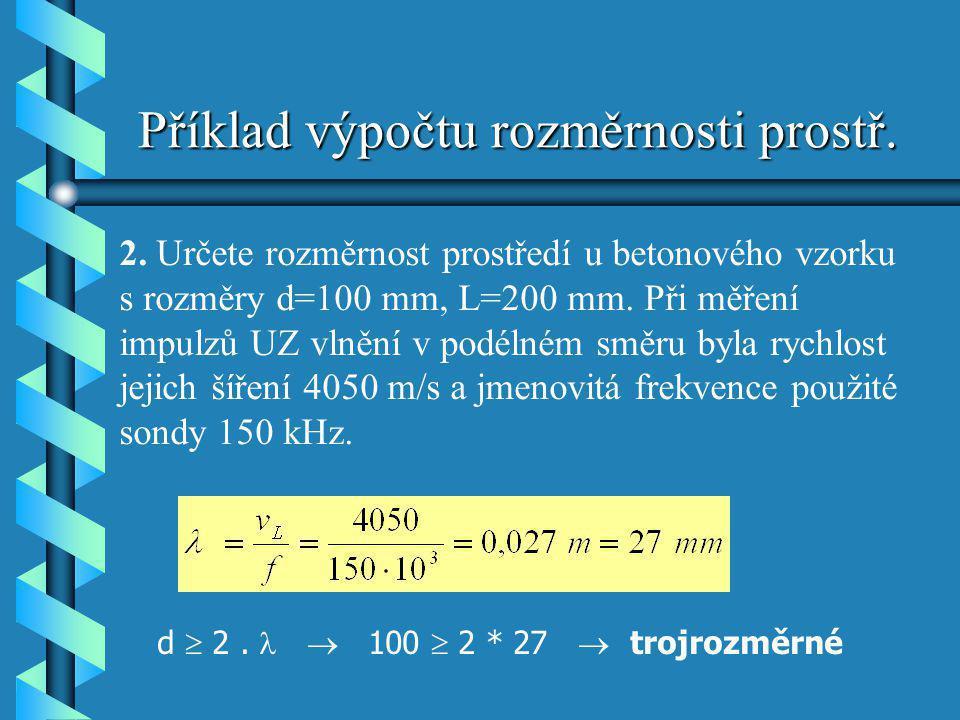 Příklad výpočtu rozměrnosti prostř.
