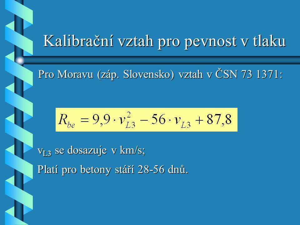 Kalibrační vztah pro pevnost v tlaku