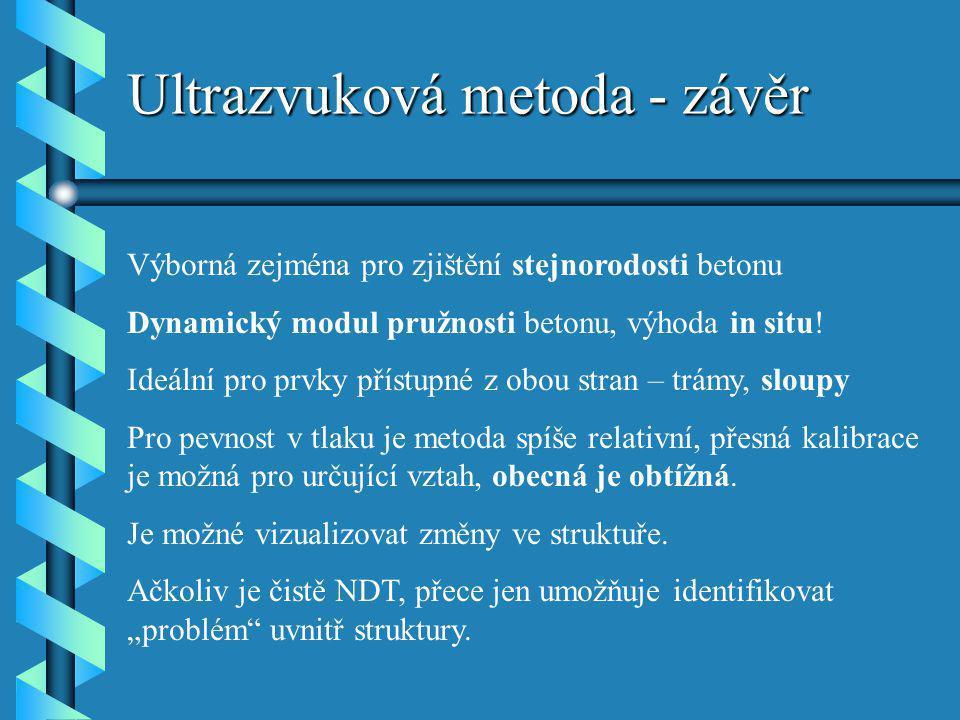Ultrazvuková metoda - závěr