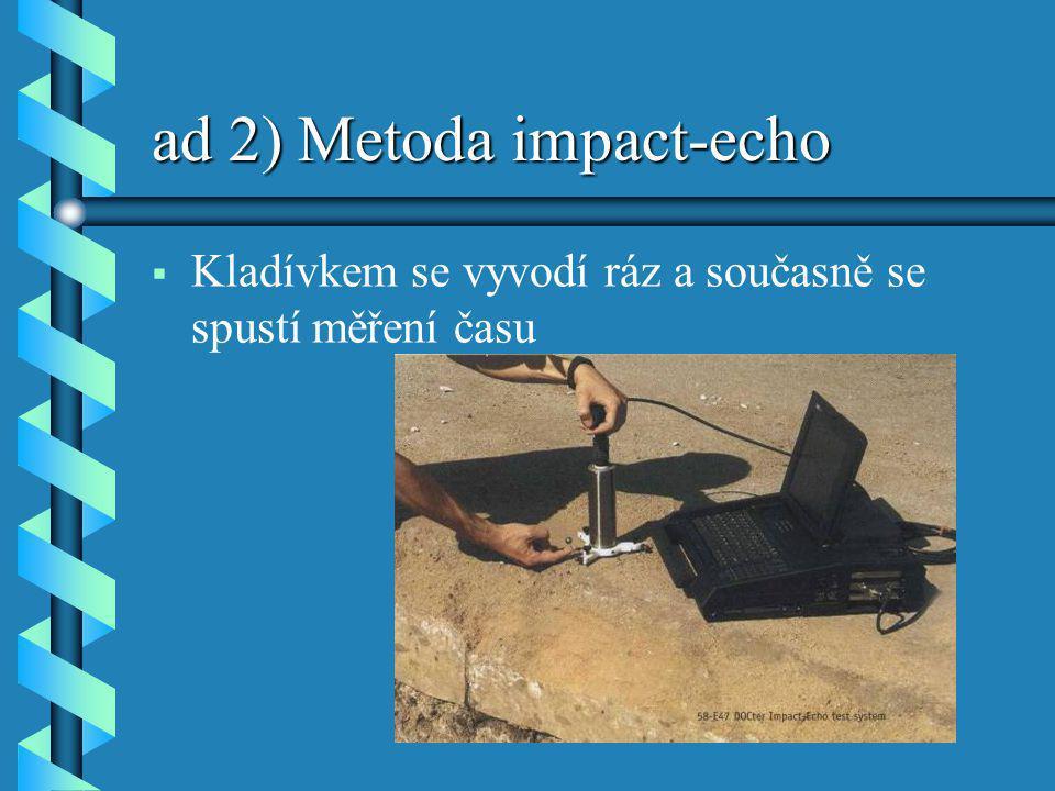 ad 2) Metoda impact-echo