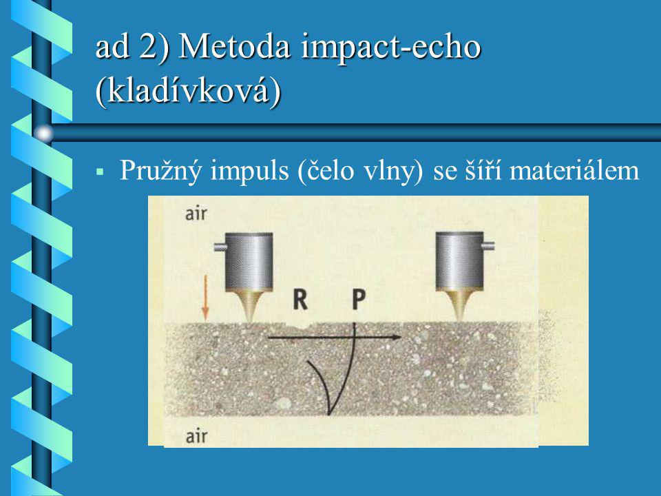 ad 2) Metoda impact-echo (kladívková)