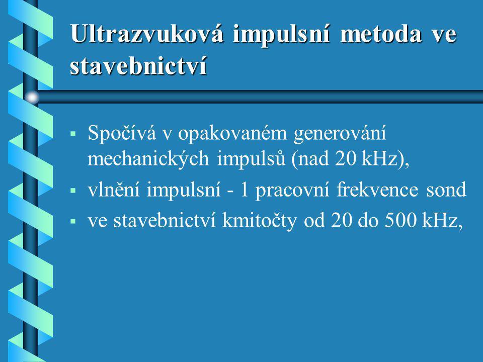 Ultrazvuková impulsní metoda ve stavebnictví