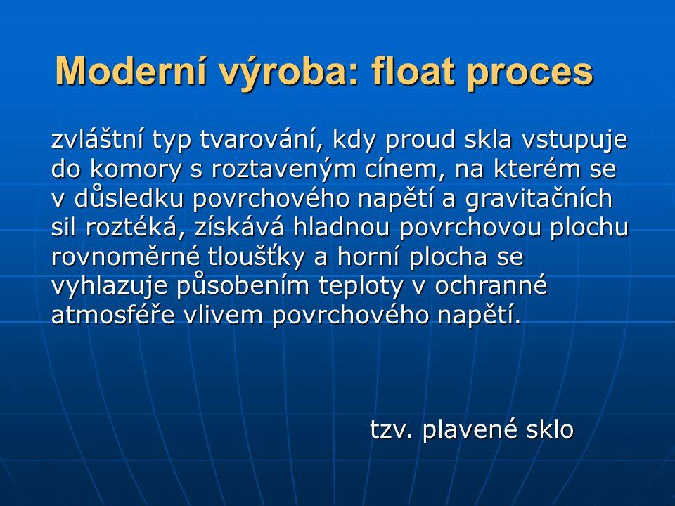 Moderní výroba: float proces