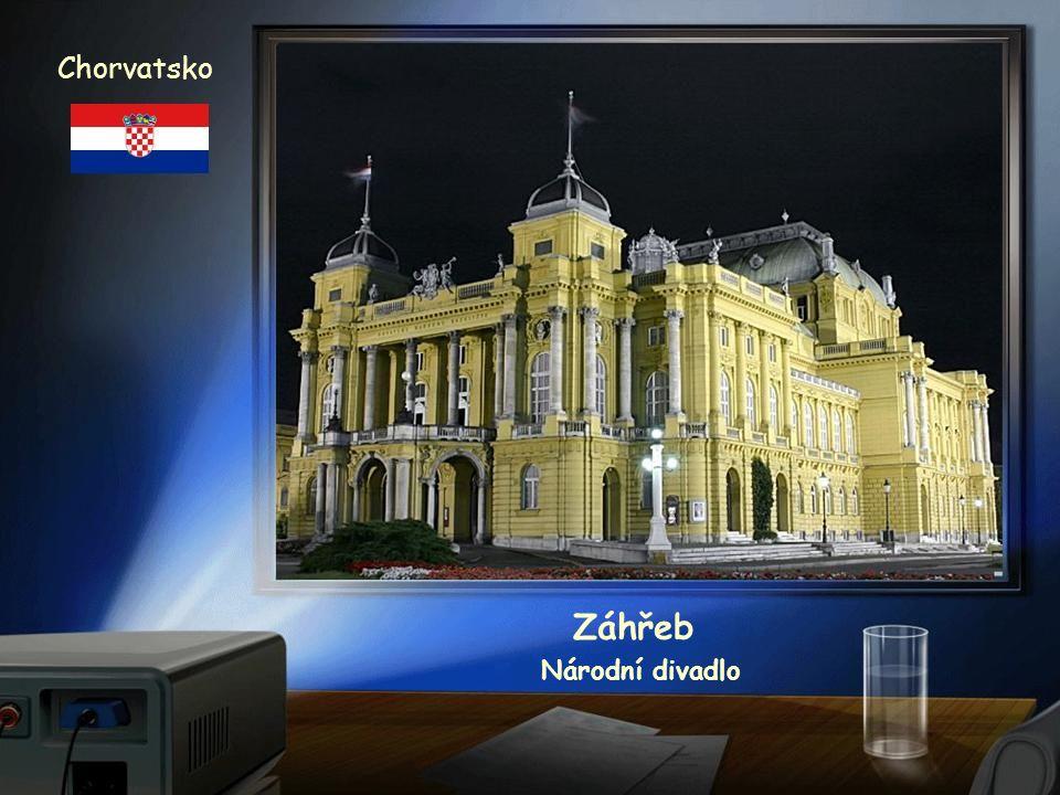 Chorvatsko Záhřeb Národní divadlo