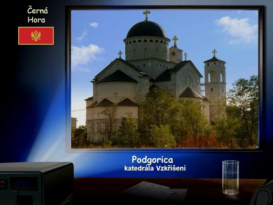 Černá Hora Собор Воскресения Христова Podgorica katedrála Vzkříšení