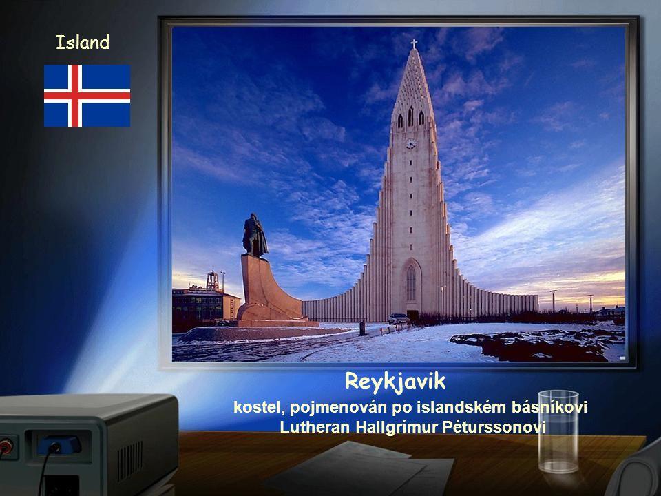 kostel, pojmenován po islandském básníkovi