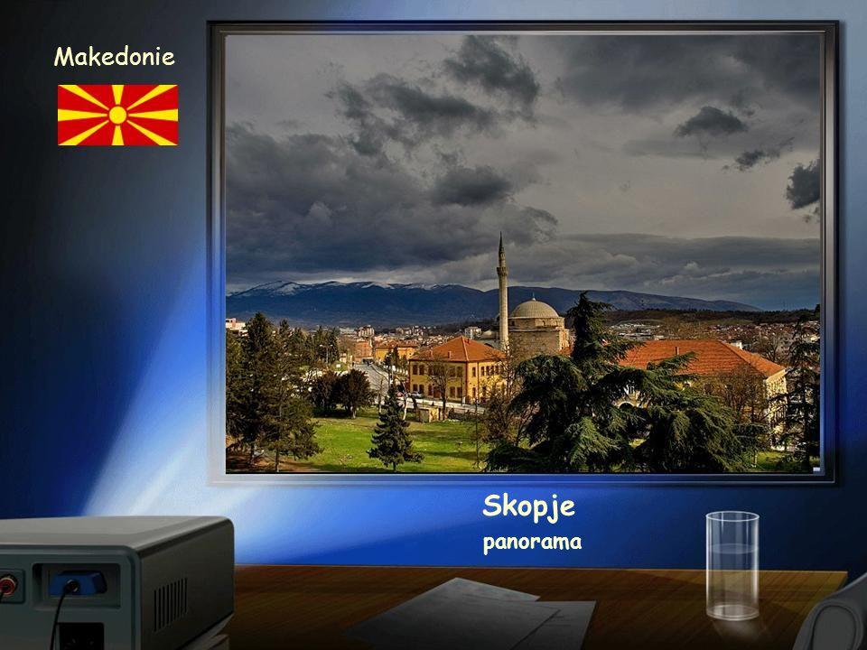 Makedonie Skopje panorama
