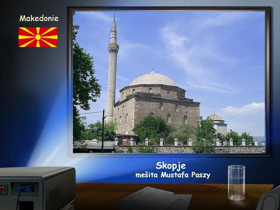 Makedonie Skopje mešita Mustafa Paszy